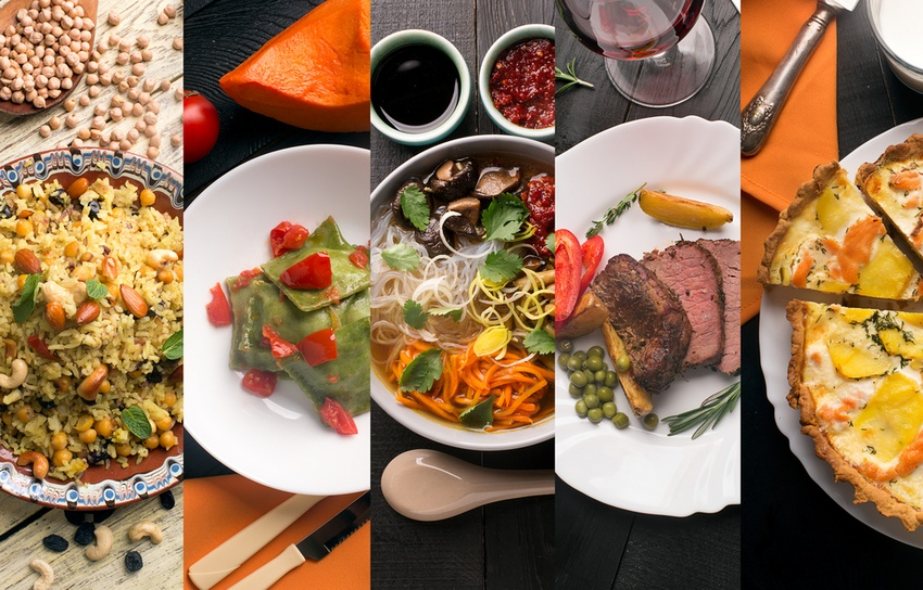 Different types of food cuisines